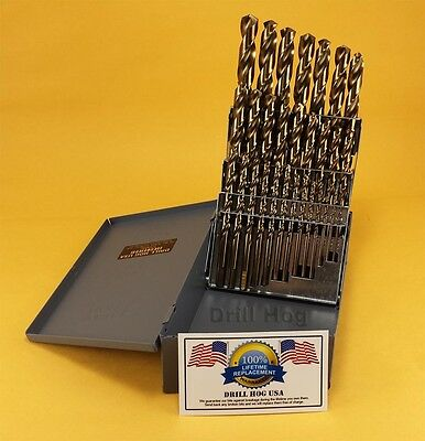 Купить Drill Hog - Drill Hog USA 29 Pc Cobalt Drill Bit Set HSSCO Drills M42 100% Lifetime Warranty