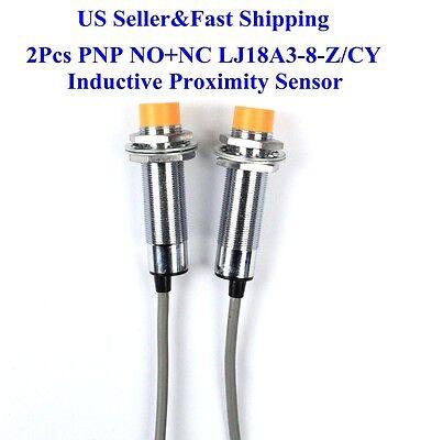 2pcs Nonc Lj18a3-8-zcy Inductive Proximity Sensor Switch Pnp Dc6v-36v Us New