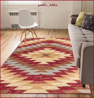- 8 x 10 Western Decor Rugs Southwest Style Living Room Area Rug Native Red Beige