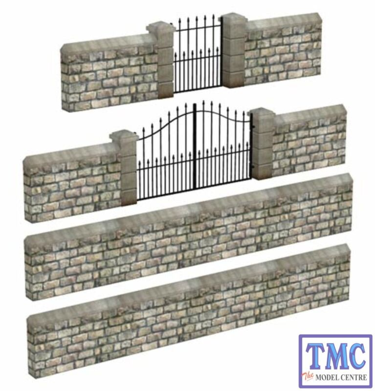 44-555 Scenecraft OO/HO Gauge Stone Walls and Gates