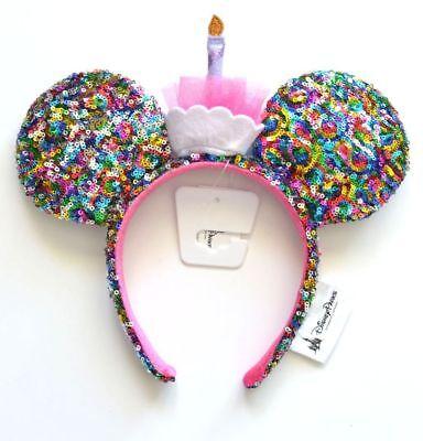 Disney Parks Happy Birthday Cupcake Cake Minnie Ears Headband NWT Ships FREE - Cupcake Headband