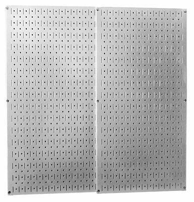 Pegboard Galvanized Steel 2 Panels 3216 Inch Pack 10x Stronger Than Usual
