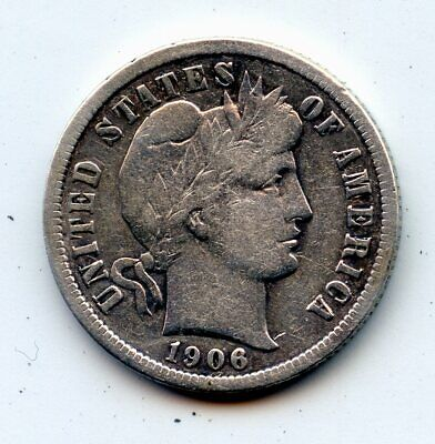 1899 Silver Barber Dime GOOD FREE SHIPPING