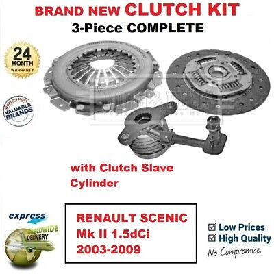 FOR RENAULT SCENIC Mk II 1.5dCi 2003-2009 BRAND NEW 3-Piece CLUTCH KIT with CSC