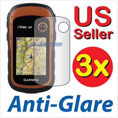 3X Anti Glare Lcd Screen Protector Guard Film Garmin Etrex 10 20 20X 30 30X Gps