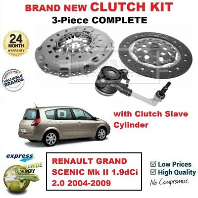 FOR RENAULT GRAND SCENIC Mk II 1.9dCi 2.0 2004-2009 NEW 3PC CLUTCH KIT with CSC