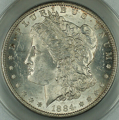 Click now to see the BUY IT NOW Price! 1884-S MORGAN SILVER DOLLAR COIN, ANACS MS-61 BETTER COIN NEARLY CHOICE, DGH