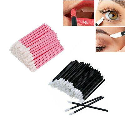 100PCS Disposable Lip Gloss Wands Brushes Lipstick Applicator Makeup Tool Stick Lip Gloss Applicator