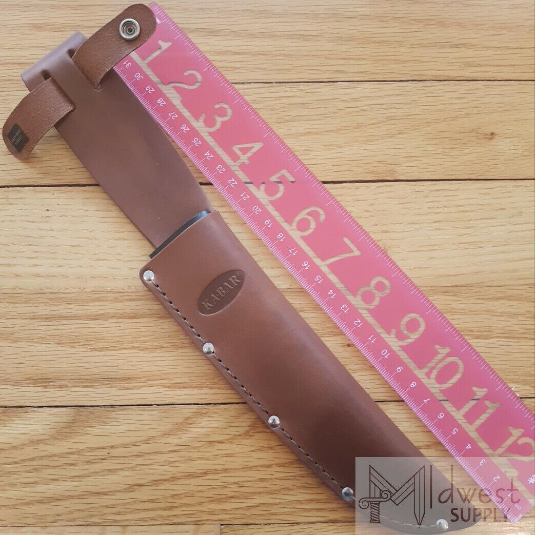 KABAR Brown Leather Sheath fits KA-BAR Bowie Knife or Simila