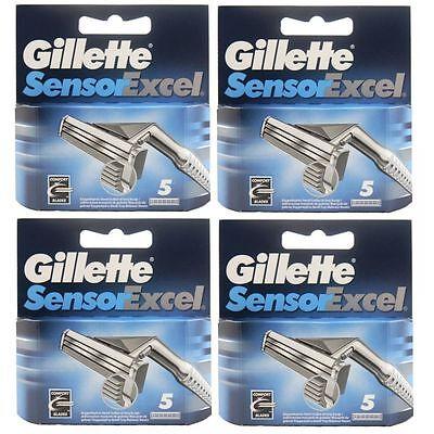 20 Gillette Sensor Excel Rasierklingen 4 x 5 Stück Klingen in OVP