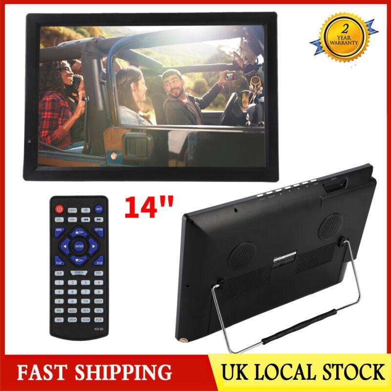 Portable+14+inch+1080P+HD+Digital+TV+USB+HDMI+Video+Player+Television+UK++Plug
