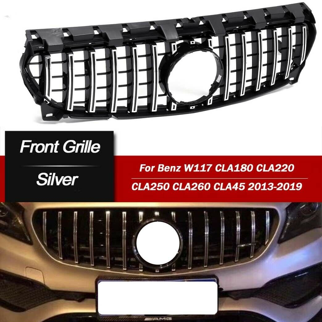 GT R Front Grille For Mercedes Benz CLA W117 CLA200 CLA250