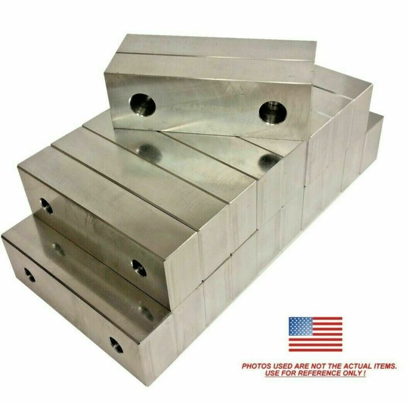 "(10 PACK) 6x2x1"" Machined Aluminum Soft Jaws Kurt 6"" Vises 6 x 2 x 1 FREE SHIP"