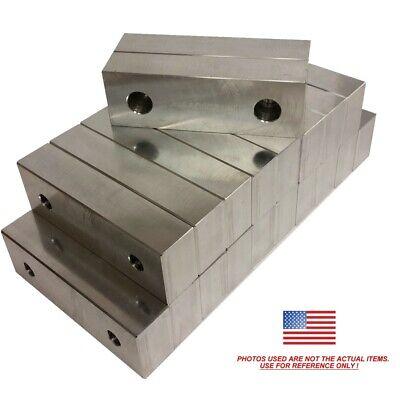10pack 6 X 2 X 1.25 Machined Aluminum Vise Soft Jaws For Kurt 6 Vises Free Ship