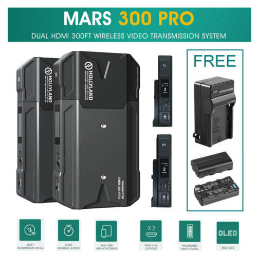 Hollyland Mars 300 PRO 300FT Dual HDMI Wireless Video Transmission TX & RX 1080P