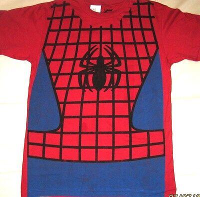 Marvel Comics Spider-Man SPIDERMAN Costume Style Tee Adult T-Shirt Licensed - Spider Man Costume T Shirt
