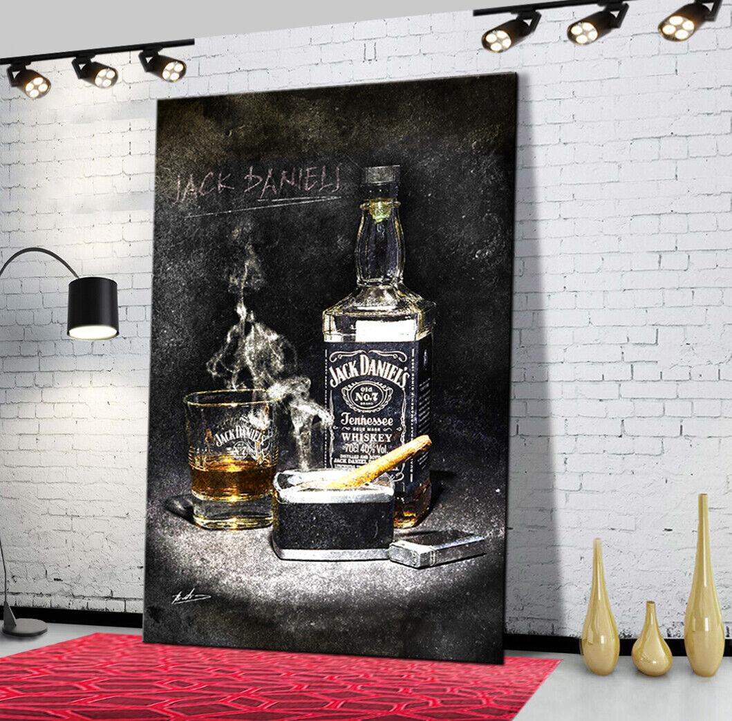 JACK DANIELS Whisky Bar Club Abstraktes Bilder Leinwand Wandbild XXXL 1208A