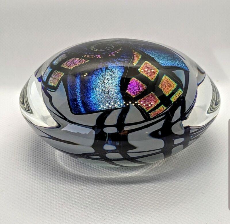 Glittering Dichroic Glass Paperweight - Amazing!!!