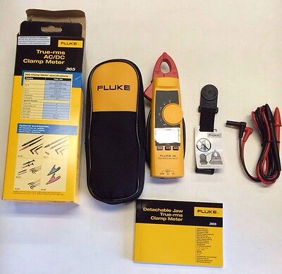 New Fluke 365 Detachable Jaw True-rms Acdc Clamp Meter