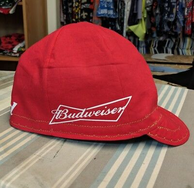 Wendys Welding Hat Made With Budweiser Applications New