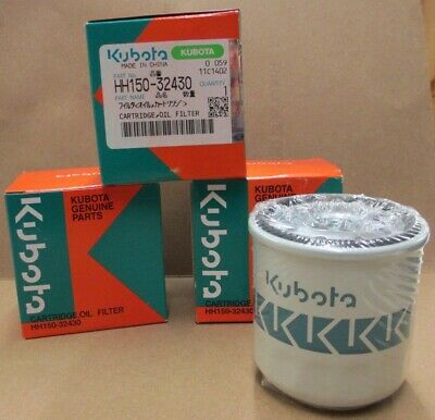 3-pack Kubota Oil Filter Hh150-32430 Replaces Old 70000-15241 Grasshopper 100800