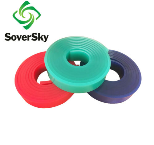 """75 Duro Durometer 12 FT / 144"""" Silk Screen Printing Squeegee Blade Roll- Green"""