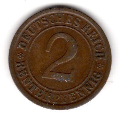 """2Rentenpfennig """"Ähren"""" 1924 Ain vorzüglich"""