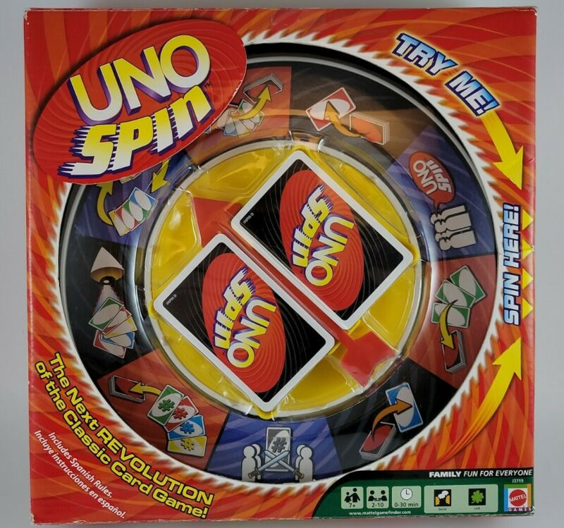 2005 Mattel UNO SPIN Next Revolution 7+  Game 2-10 Players Missing 5 Cards
