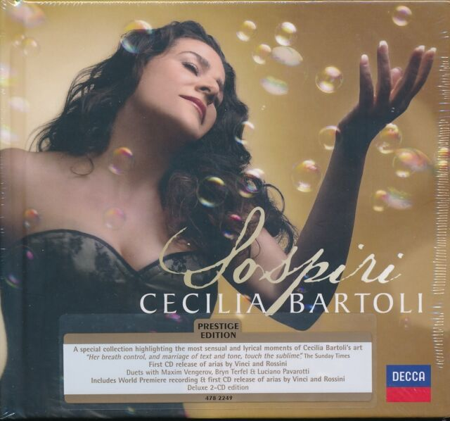 Cecilia Bartoli Sospiri CD NEW 2-disc Deluxe edition