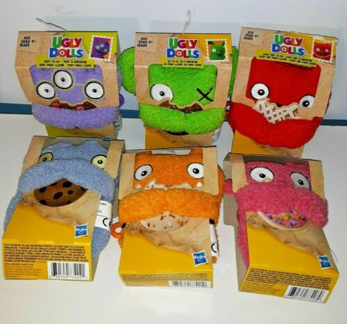Ugly Dolls To Go Keychain Plush Toys Lot of 6 New in Package Hasbro