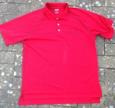 Men's Red adidas polo shirt Sports Top xl