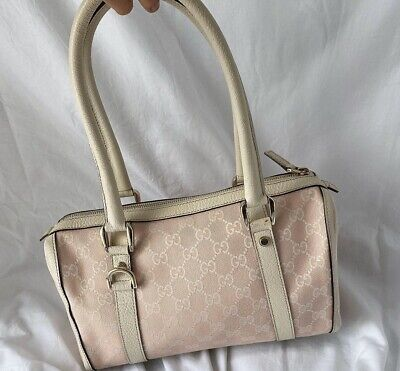 Gucci Boston Vintage Pink Genuinr Authentic Bag
