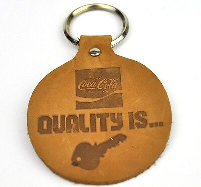 Coca-Cola Coke USA Leder Schlüsselanhänger Key Chain - Quality is...