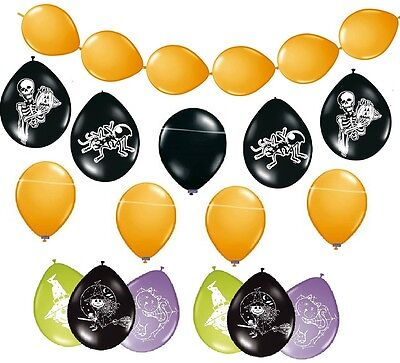 Partyartikel Halloween Luftballons orange schwarz lila Hexe Ballons Partydeko