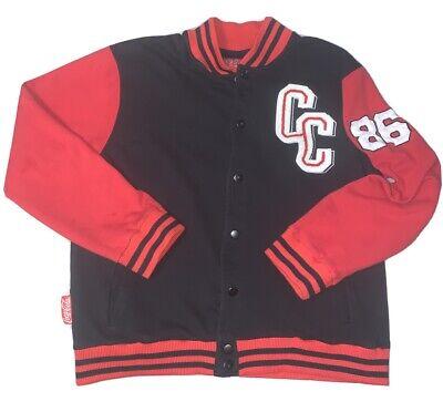 Vintage Coca Cola Varsity Letterman's Jacket Size 2XL 86 Black And Red