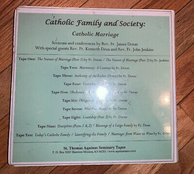 Marriage tapes Catholic Family & Society St. Thomas Aquinas Seminary Fr. Doran
