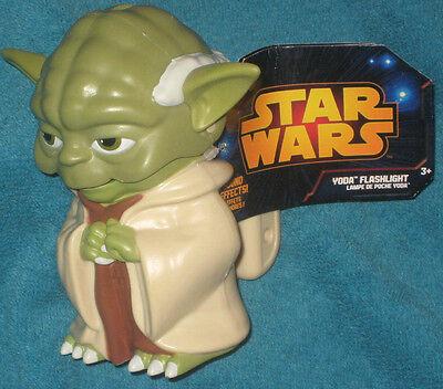 Disney Store Star Wars Yoda Flashlight.  Brand New. 5 inch. Batteries Included.