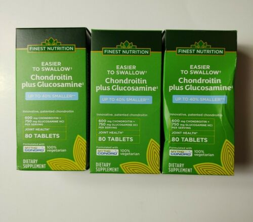 (3) Finest Nutrition Easier to Swallow Chondroitin Plus Glucosamine, 80ct