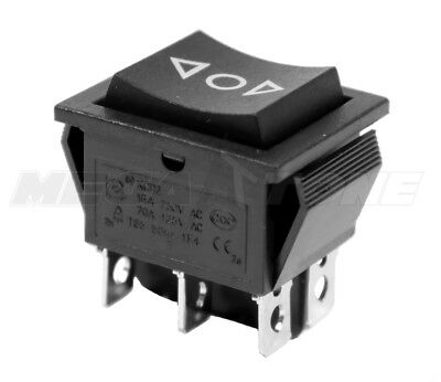 Dpdt On-off-on 20 Amp125vac Momentary 6-pin Rocker Switch Kcd2 - Usa Seller