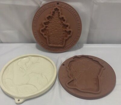 Workshops of Gerald E Henn Cookie Mold Lot of 3