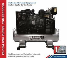 Air Compressor - Piston 14 CFM 70L Lt Diesel - *Cast Iron* Wheels Kewdale Belmont Area Preview