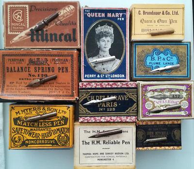 10 verschiedene Schreibfedern, Pen, Nibs, Plume, Pennini, Kalligraphie, Set 12