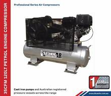 Air Compressor - Piston 35 CFM 120 Lt Petrol - *Cast Iron* - 15HP Kewdale Belmont Area Preview