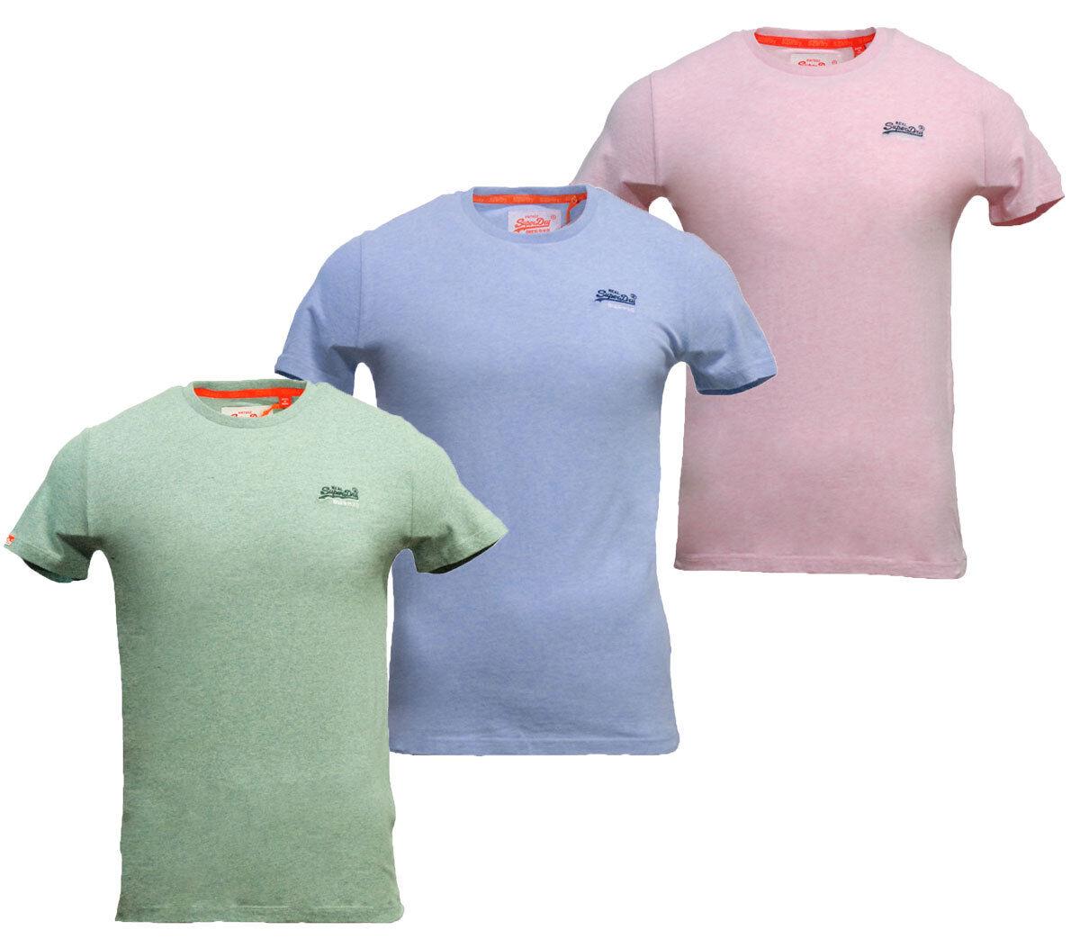 Détails sur Homme Superdry Orange Label Vintage EMB Crew Neck T Shirt bleu pastel vert rose afficher le titre d'origine