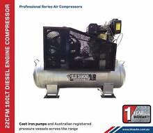 Air Compressor - Piston 20 CFM 120 Lt Diesel - *Cast Iron* 11 HP Kewdale Belmont Area Preview