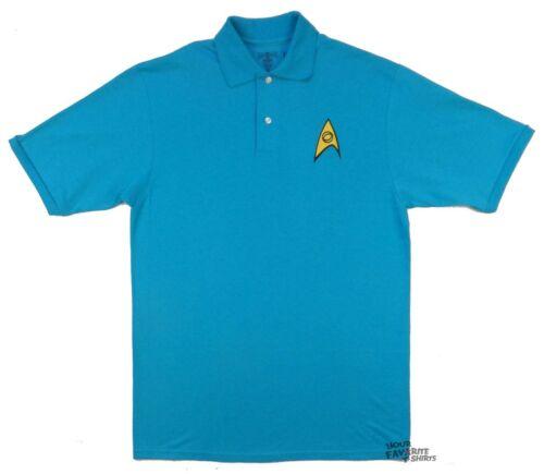 Star Trek Starfleet Science Symbol Adult Embroidered Polo Shirt Ebay