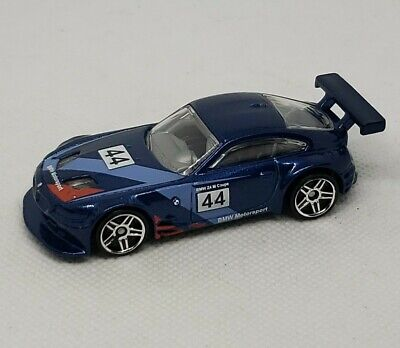 HOT WHEELS 2016 HW BMW 3/5 BMW Z4 M Racing MOTORSPORT METAL FLAKE BLUE
