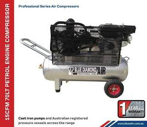 Air Compressor - Piston 18 CFM 70 Lt Petrol - *Cast Iron* Greenslopes Brisbane South West Preview