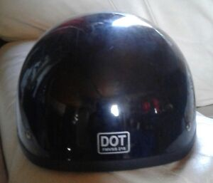 Motorcycle dot half helmet size  large  good  condition