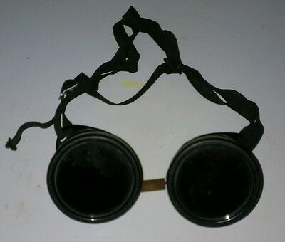 Vintage Welding Safety Goggles Glasses Aviator Motorcycle Steampunk Machinist
